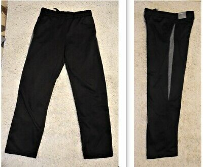 $13 • Buy Tek Gear Performance Fleece Pants WarmTek Youth Boys L 14/16 14-16 Black New NWT