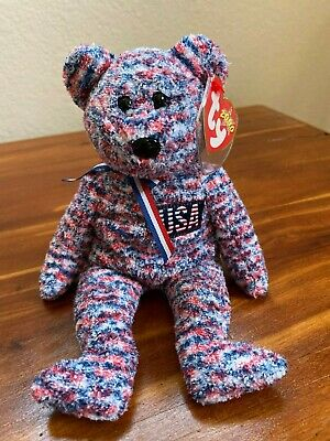 $250 • Buy Ty USA Beanie Baby. 2000 Red White And Blue Bear