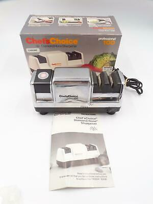 Chef'sChoice Diamond Hone Knife Sharpener Professional 100 Chrome Black Works • 23.74$