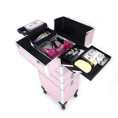 $72.99 • Buy New 4 In1 Professional Makeup Case Trolley Storage Rolling Salon Tool Cart US