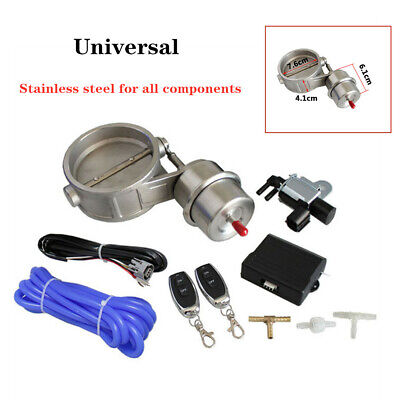 $ CDN193.41 • Buy 3  76mm Stainless Steel Vaccum Control Exhaust Valve/Cutout Set With Wireless