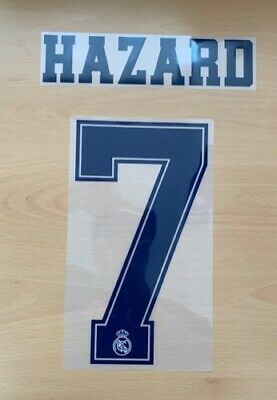$22.50 • Buy Sporting Id Official Adidas Real Madrid 3RD Nameset Print HAZARD 7 2019/20