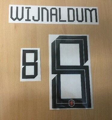 $22.50 • Buy Sporting ID Official Nike Holland Home Authentic Nameset Print WIJNALDUM 5 18/19