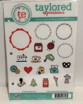 Taylored Expressions FROM THE HEART Food Crafting Kitchen Rubber Stamps Set • 19.99$