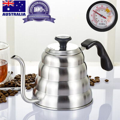 AU37.98 • Buy Pour Over Coffee Kettle Thermometer Flow Gooseneck Tea Kettles Hand Drip Coffee