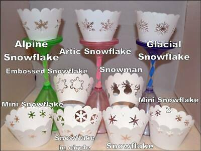 £4 • Buy Snowflake Snowman Frozen Xmas Cupcake Wrappers X12 Holders