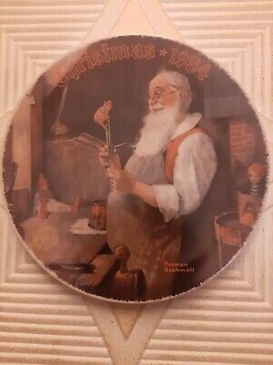 $ CDN6.55 • Buy Norman Rockwell SANTA IN HIS WORKSHOP Collectable Plate NIB 1984 Knowles