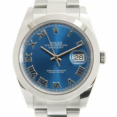$ CDN11391.02 • Buy Rolex Datejust 41 Automatic Blue Dial Stainless Steel Men's Watch 126300 0017