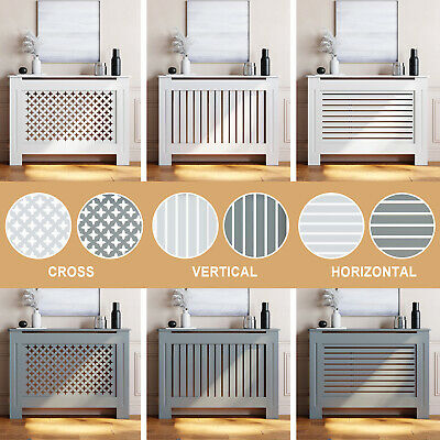 £39.99 • Buy Modern Radiator Cover Wall Cabinet Wood MDF Grill Shelf Traditional Furniture
