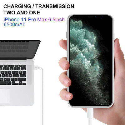 AU55.09 • Buy Smart Rechargeable Battery Case For IPhone 11/Pro/Max XR X 8 7 6 5S 4000-6500mAh