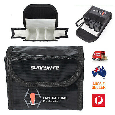 AU15.95 • Buy 3 Lipo Battery Explosion Proof Safe Guard Bag Protective Case For DJI Mavic Air