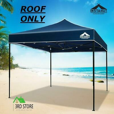 AU39.10 • Buy Instahut Gazebo 3x3 Pop Up Marquee Replacement Roof Outdoor Wedding Tent Navy