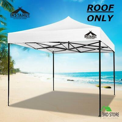AU36.55 • Buy Instahut Gazebo 3x3 Pop Up Marquee Replacement Roof Outdoor Wedding Tent White