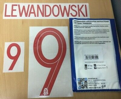 $22.50 • Buy Sporting ID Official Nike Poland Home Nameset Print Lewandowski 9 2018/19