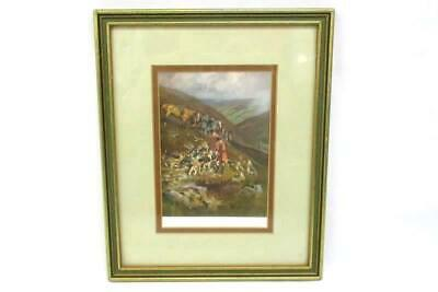 £36.79 • Buy 1920's A Hill Fox By Lionel Edwards Framed Fox Hunting W/ Dogs And Horses Print