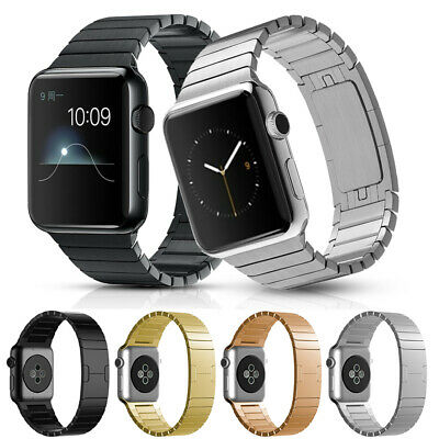 $ CDN7.22 • Buy Apple Watch Band Link Bracelet Stainless Steel IWatch Strap Series 5 4 3 38/42mm