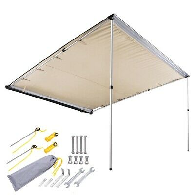 AU174.90 • Buy 2.5m X 3m Car Side Awning Roof Rack Top Pull Out Tent Camping Trailer 4X4 4WD
