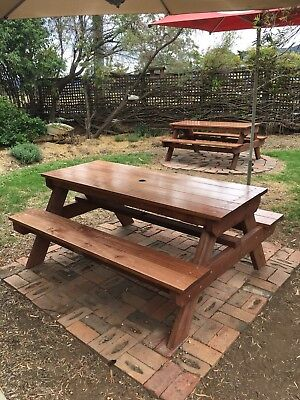 AU630 • Buy Timber Outdoor Setting Picnic Table Brand New 1.8 Metres