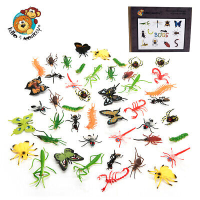£14.99 • Buy Plastic Insects Toys Mini Beasts Set Of 48 For Sorting And Counting Boxed, Ebay