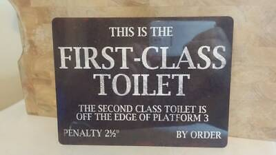 First Class Toilet  Retro Metal Wall Plaque Art Vintage War Train Station Sign  • 4.69£
