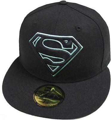 New Era Superman Black Tiff Dc Marvel Cap 59Fifty Fitted Special Limited Edition • 46.37£
