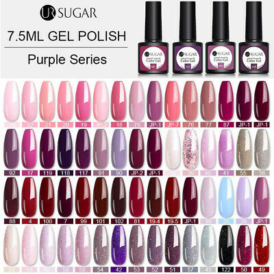 UR SUGAR Glitter UV Gel Polish Pink Soak Off Gel Nail Varnish Matte Top Coat UK • 3.99£