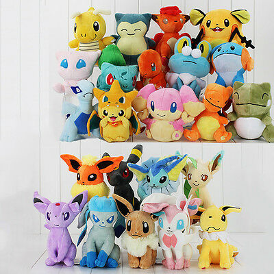 2018 Pokemon Collectible Plush Character Soft Toy Stuffed Doll Teddy Kids Gift • 3.99£