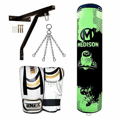 AU117.86 • Buy 5ft Punch Bag Boxing Gloves Heavy Duty Adult Sports/Junior Material MMA Arts Set