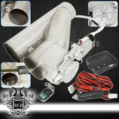 $ CDN108.25 • Buy For Jeep 2.5  63mm Remote Electric Exhaust Catback Downpipe Cutout E-Cut System