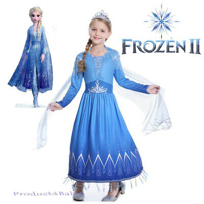 AU22.45 • Buy 2019 New Release Girls Frozen 2 Elsa Costume Party Birthday Dress Size 2-10Yrs