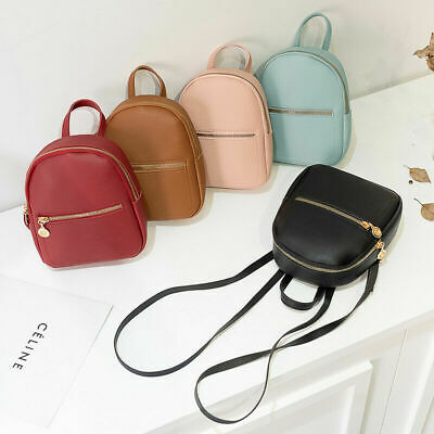 $8.99 • Buy Women Girls Mini Backpack Faux Leather Cute School Bag Travel Handbag Tiny Bag