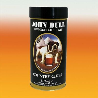 John Bull 1.8kg - Country Cider - 40 Pint Home Brew Ingredient Kit • 21.96£