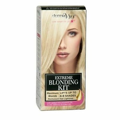 3 PACKS Of Derma V10 Extreme Blonding Kit Ultimate Blonde Lifts Up To 5-7 Shades • 9.35£
