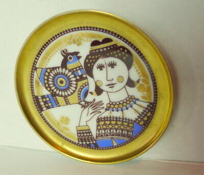 $22.50 • Buy Maastricht Mosa Holland Tiny Pat Plate Ornate Lady And Bird Decorations
