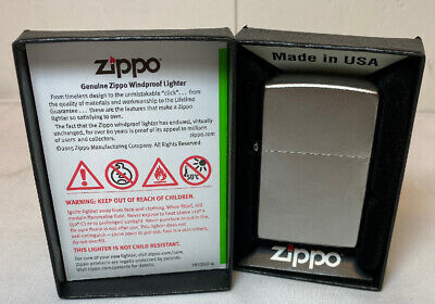 $10.99 • Buy Zippo 205 Full Size Satin Chrome Classic Windproof Pocket Lighter Genuine USA