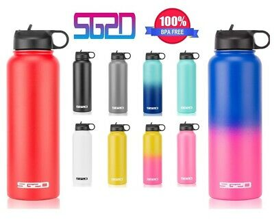 $19.85 • Buy Hydro Stainless Steel Water Bottle Flask Insulated Straw Lid Cap 18oz 32oz 40oz
