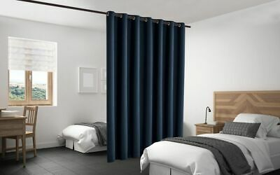 $48 • Buy Blackout Room Divider Curtain Panel Privacy Screen Thermal Insulated Navy Color