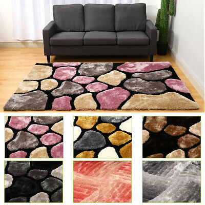 Modern Abstract Rug Stones Pebble Swirl Pattern Soft Large Pile Quality Rugs NEW • 59.95£