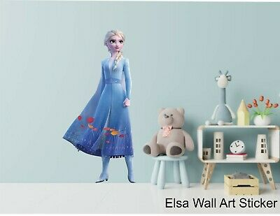 ELSA - FROZEN II -  WALL ART STICKERS - 3 X Great Sizes - Great For Any Room • 21.25£