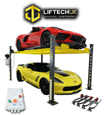 4 Post Lift / Four Vehicle Car Ramp / Hoist Parking Storage With Mobile Kit 3.7t • 1,850£