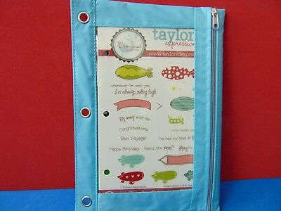 New Taylored Expressions IN THE CLOUDS 25 Rubber Stamp & Pouch  • 2.99$