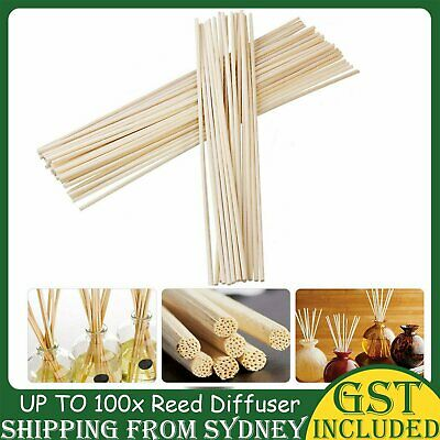 AU10.85 • Buy UP 100x  Indoor Rattan Reed Fragrance Oil Diffuser Replacement Refill Stick Reed