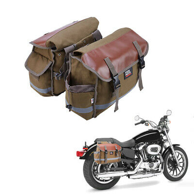 $39.99 • Buy Motorcycle Bike Saddlebags Tail Bags Pannier Equine Back Pack For Sportster Dyna