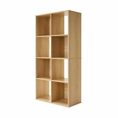 AU64.95 • Buy 8 Cube Storage Shelf DIY Cabinet Cupboard Organizer Bookshelf Display Unit - Oak