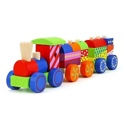 £10.49 • Buy Kids Childrens 17 Pc Wooden Train Play Set Role Play Colourful Wood Toy