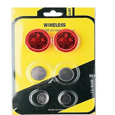 2PCS LED Car Door Opening Warning Light Safety Flash Signal Lamp Anti-Collision • 2.15£