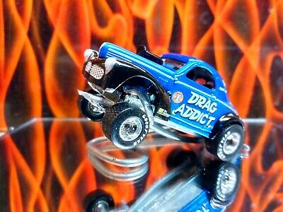 1/64 Johnny Lightning Hot Wheels 41 CUSTOM WILLY'S COUPE GASSER Real Riders • 20$