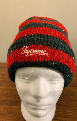 $ CDN99.99 • Buy Supreme Stripe Speckle Beanie Red Fw19. Week 11 Authentic Brand New, Fast Ship