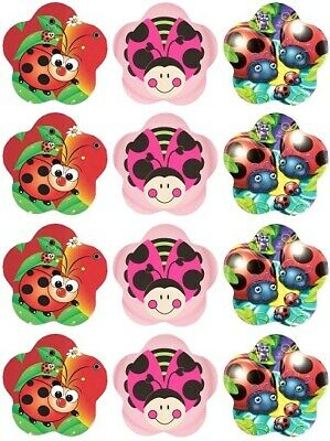 24 Ladybird Lady Bug Fairy Cake Toppers Edible Party Decorations • 1.99£