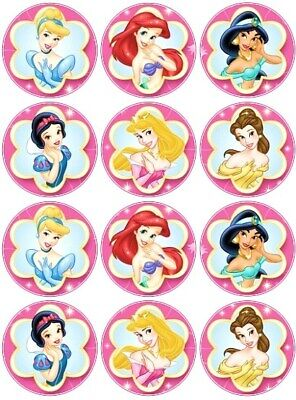 £1.99 • Buy 24 Disney Princess Fairy Cake Toppers Edible Party Decorations